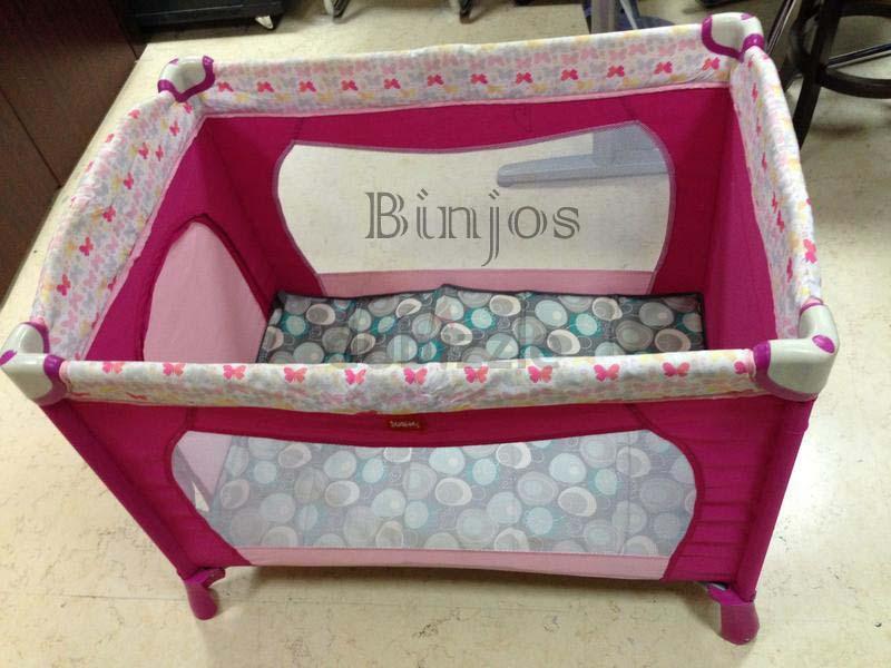 Binjos Juniors Baby Crib Travel Cot 7 Pieces